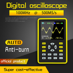 Dso449 Handheld Ips Lcd Mini Digital Oscilloscope 100mhz 500msa s Mini Portable