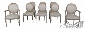 L25634ec Set Of 8 Baker French Louis Xvi Style Upholstered Dining Room Chairs