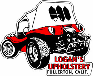 Logan S Upholstery Vintage Reproduction Drag Race Hot Rod Bumper Sticker Decal