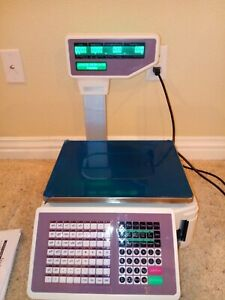 New 110v Commercial Digital Price Computing Scale 66 Lbs With Label Printer