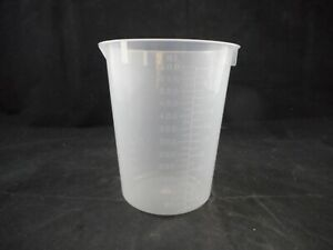Laboratory Plastic 600ml Griffin Low form Beaker With Spout Graduated 1 pack