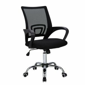 Mid back Mesh Office Chair Adjustable Ergonomic Chair W lumbar Support And Breat