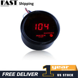 2 52mm Digital Led Fahrenheit Water Temp Temperature Gauge Sensor 104 300f A5