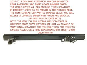 2018 2019 Ford Expedition Right Side Short Power Running Board Shadow Black