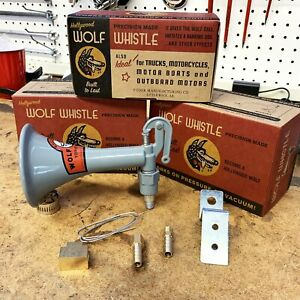 Howling Wolf Whistle Horn Loud Vacuum Power Db Hot Rod Muscle Car Auto Chevy Gm