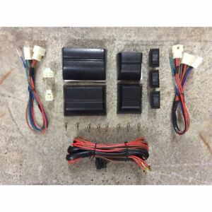 Universal 12v Dc Power Window Switch Conversion Kit With Harness And Cases Auto