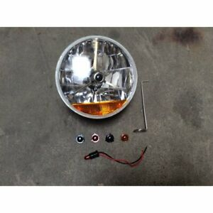 Tri Bar 7 Inch Halogen Lens Assembly With Amber Turn Signal Each Gm Chevy 150
