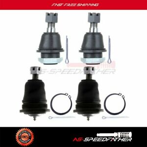 Suspension Front Upper Lower Ball Joint Part Kit 4pcs For Nissan Frontier Xterra