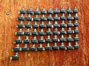Carling Miniature Push Button Switch 6a 125v 3a 250v 3 4a 125v Lot Of 55