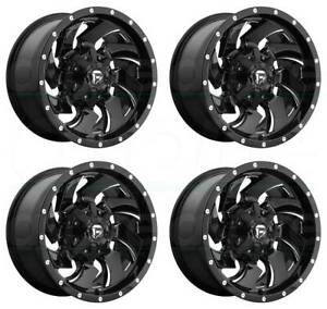 22x10 Fuel Cleaver D574 5x5 5 5x150 18 Black Milled Wheels Rims Set 4