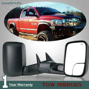 Fit 98 01 Dodge Ram 1500 2500 3500 Power Heated Turn Tow Mirrors L R From Us