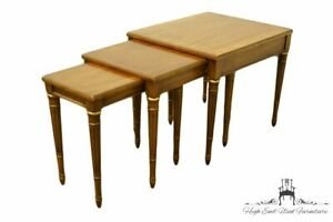 Heritage Furniture Italian Neoclassical Nesting Accent End Tables 18 572 69