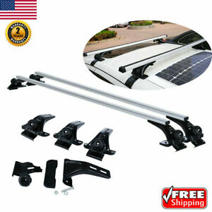Roof Rack Cross Bars Kit Luggage Carrier For 4 door Cars 115 150cm Wide Roofs