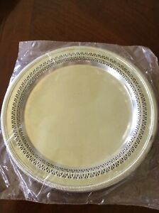 Vintage 12 Round International Silver Co Tray Never Used