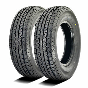 2 New Loadmaxx St Trailer St 205 75r15 Load D 8 Ply Trailer Tires
