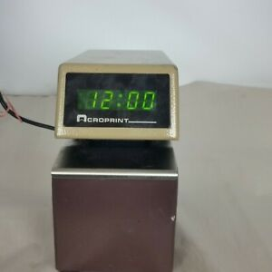 Acroprint Digital Display Etc Time Card Stamp Punch Recorder With 2 Keys