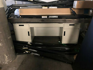6 Labcrafters Metal Lab Desk With Doors drawers And Epoxy Top Seated Height