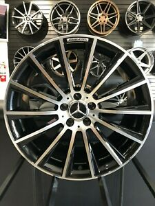 18x8 5 Black Machine S63 Amg Style Rims Wheels Fits Mercedes Benz E Class