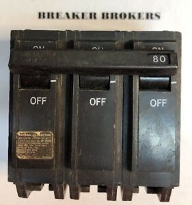 General Electric 80 Amp 3 Pole Type Tqhl Circuit Breaker Ships Today Priority