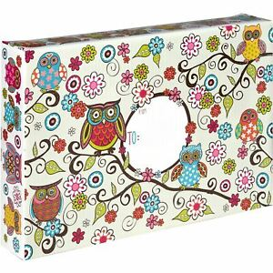 Large Baby Printed Gift Mailing Boxes Owls 24 Pieces