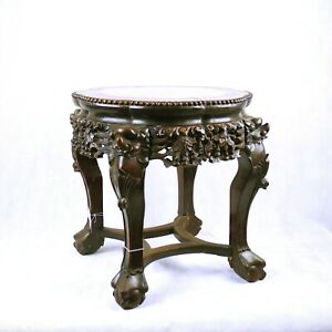Chinese Hardwood Jardiniere Stand Table Qing Dynasty 19th C