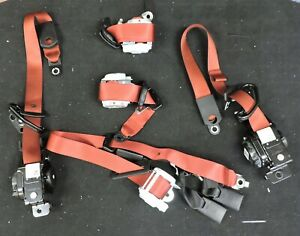 2015 2019 Dodge Challenger Hellcat Srt Red Seat Belt Full Set Oem