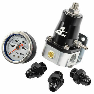 Aeromotive 13129 Compact Efi Bypass Fuel Pressure Regulator Combo Kit