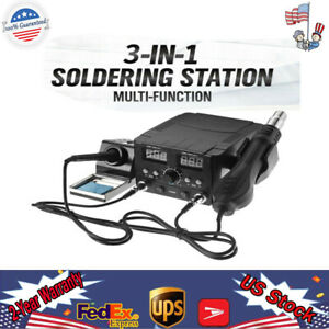 750w Lcd Solder Station Soldering Hot Air Heater Tool Iron Desoldering Rework