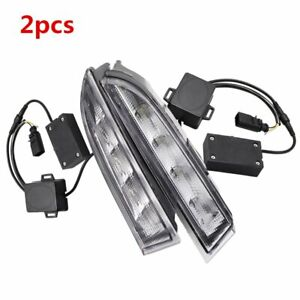 For Vw Scirocco 2010 2013 Drl Led Daytime Running Light Fog Lamp W Turn Signal