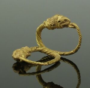 Fabulous Ancient Greek Gold Earrings 4th 1st Century Bc 0111