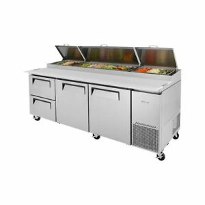Turbo Air Tpr 93sd d2 n Super Deluxe Pizza Prep Table 2 Drawers