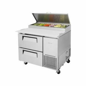 Turbo Air Tpr 44sd d2 n Super Deluxe Pizza Prep Table 2 Drawers