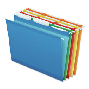 Pendaflex 42621 Colored Reinforced Hanging Folders 1 3 Tab Letter asstd New