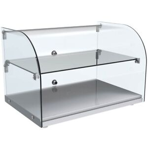 Marchia Ca45 22 Curved Glass Countertop Dry Display Case For Bakery Or Deli