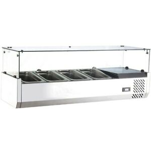 Marchia Mtr6 59 Refrigerated Countertop Salad Bar Topping Rail