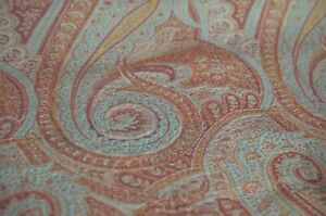 Rare Antique Scottish Two Sided Paisley Shawl Unfinished Uu615