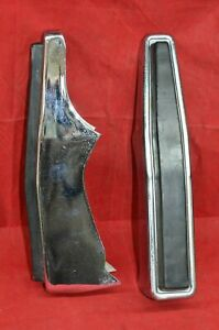 Vintage Ford Chevy Dodge Truck Van Bumper Guards Bumperettes Pads L R Front Set