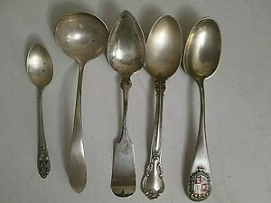 5 Lot Sterling Silver Collection Spoons 4 5 1 2 6 Exceptional Lot 97 5 Gram