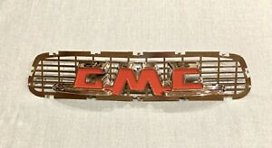 1955 56 Gmc Hood Emblem With Mesh Will Also Fit 1957 Gmc Hood Nice Orig Chrome