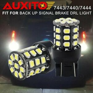 2x Super Bright 33 Smd 7443 7440 White Led Back Up Reverse Lights Bulb 1800lm