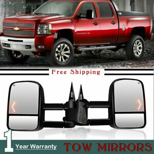 New Style Tow Mirrors Fits For 03 06 Chevy Silverado Gmc Sierra Power Heated Us