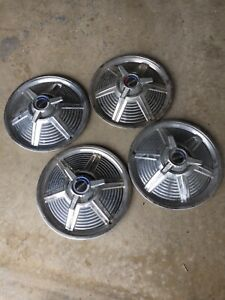 1966 Original Equipment Ford Mustang 14 Inch Hub Caps Set