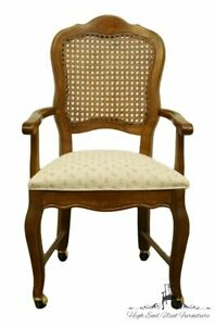 Stanley Furniture Country French Provincial Cane Back Dining Arm Chair W Cas