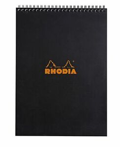 Rhodia Wirebound Notebook 8 1 4 X 11 3 4 Graph Black
