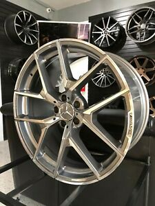 Set Of 19 Gunmetal Y Amg Style Rims Wheels Fits Benz Cls500 Cls550 Staggered