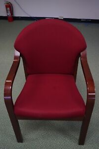 Red Office Chairs Wood Hardware