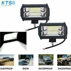 2x 5 Cree Led Pod Work Rv Light Bar Flood Beam Off Road Driving Fog Lights 12v