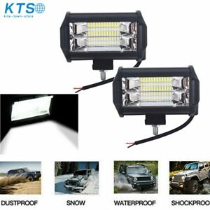 2x 5 Led Pod Work Rv Light Bar Flood Beam Off road Driving Fog Lights 12v