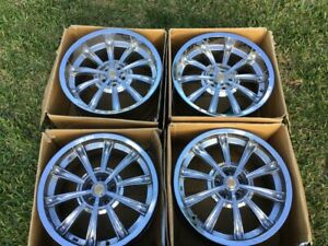 20 Inch Retired Chrome Cs66 Shelby Mustang Rims Staggered Set Fx9