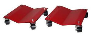 Auto Dolly M998105 Wheel Dollies Car Steel Red 2 500 Lbs Per Dolly Pair